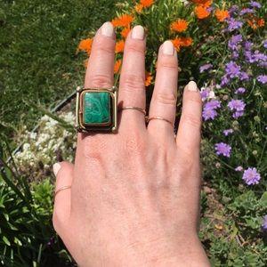 Jewelry - Square malachite statement ring
